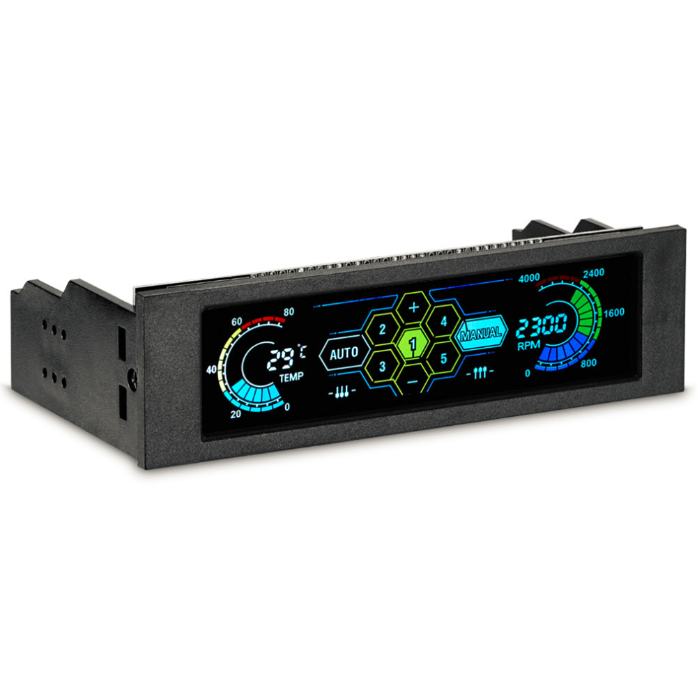 5,25 диск Bay PC компьютер процессор охлаждения LCD передняя панель регулятор температуры контроль скорости вентилятора для настольного компью...