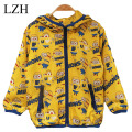 LZH 2015 Cute kids Cotton Costume, cartoon anime figure Despicable Me Minions children's clothing Coat