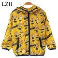 LZH 2015 niños Lindos del Algodón Traje, figura de dibujos animados anime Despicable Me Minions niños ropa de Abrigo