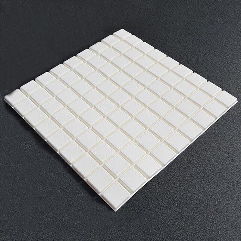 PE Foam Elastic 3D Plate Mosaic Wall Sticker 30*30cm Home Decor Living Room TV Sofa Wall Small Square Self-adhesive Art Mural