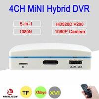 1080P CCTV Camera XMeye Hi3520D 4 Channel 4CH 1080N 25fps 6 In 1 Hybrid Mini NVR