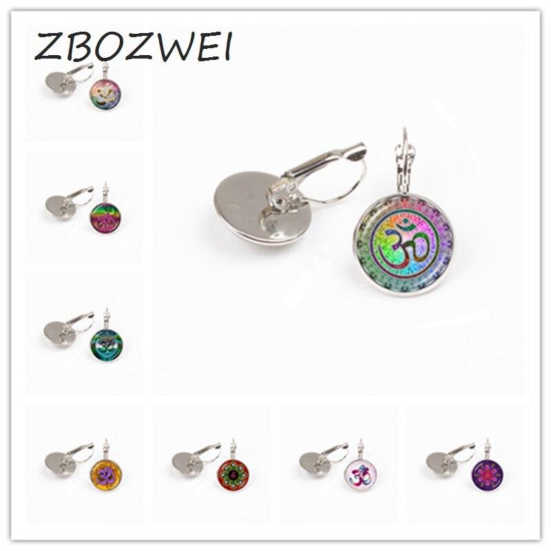 Best Price Zbozwei Om Aum Ohm Buddha Earring Namaste Yoga Jewelry