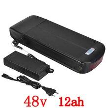 48 В 1000 Вт батарея 48 В 12ah электрический велосипед батареи 48 В 12ah литий-ионный аккумулятор с 30A BMS + 54,6 В 2A зарядное устройство Бесплатная доставка
