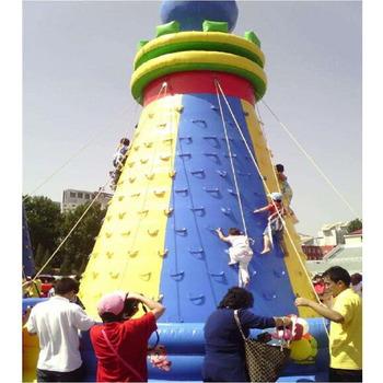 Wyposażenie siłowni w połączeniu nadmuchiwana pływająca ściana wspinaczkowa tanie i dobre opinie XZ-CW-045 Dziecko Gym equipment Combined inflatable floating rock climbing wall 0 5mmPVC L8m*W8m*H8m 110-220v Large Outdoor Inflatable Recreation
