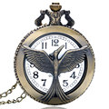 Retro Hollow Retro Phoenix Quartz Pocket Watch Necklace Pendant Women Men P229