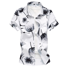 Hot Sale Men Shirt Casual New 2018 Summer Print Short Sleeve Chemise Homme Slim Fit Social Brand Clothing Shirts Men Plus M-7XL