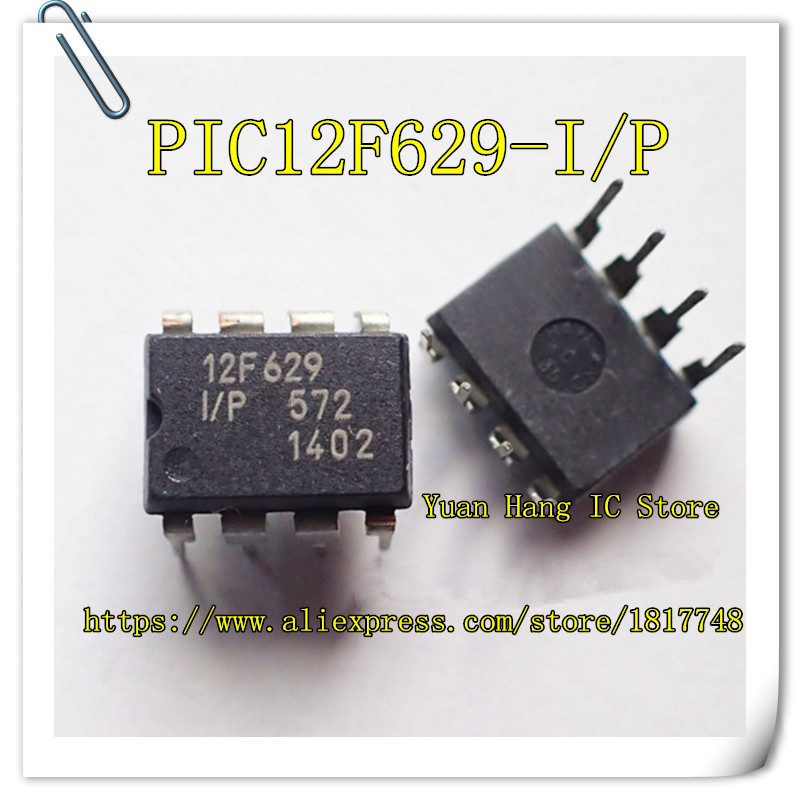 10PCS/LOT PIC12F629-I/P 12F629-I/P PIC12F629 12F629 DIP-8 8-Pin FLASH-Based 8-Bit CMOS Microcontrollers