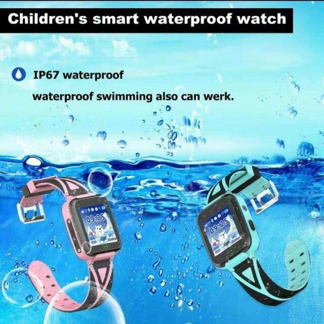 "Kids Smart watch T16 GPS tracker watches SOS GPS Wifi Location waterproof IP67 flashlight camera HD 1.44"" Children clock T16"