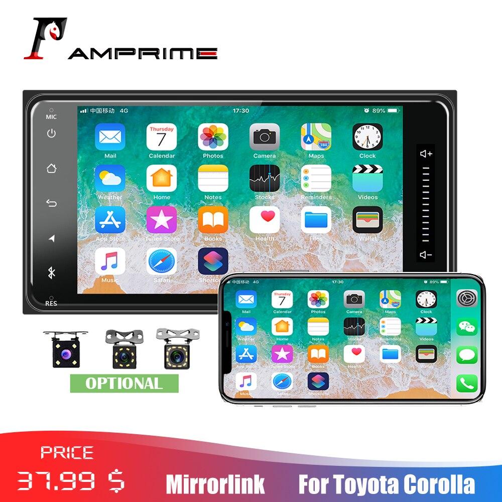 """AMPrime ユニバーサル 7 """"オーディオラジオ 2din タッチ Bluetooth MirrorLink Android/IOS FM/AUX リアカメラ MP5 プレーヤー  グループ上の 自動車 &バイク からの 車用マルチメディアプレーヤー の中 1"""