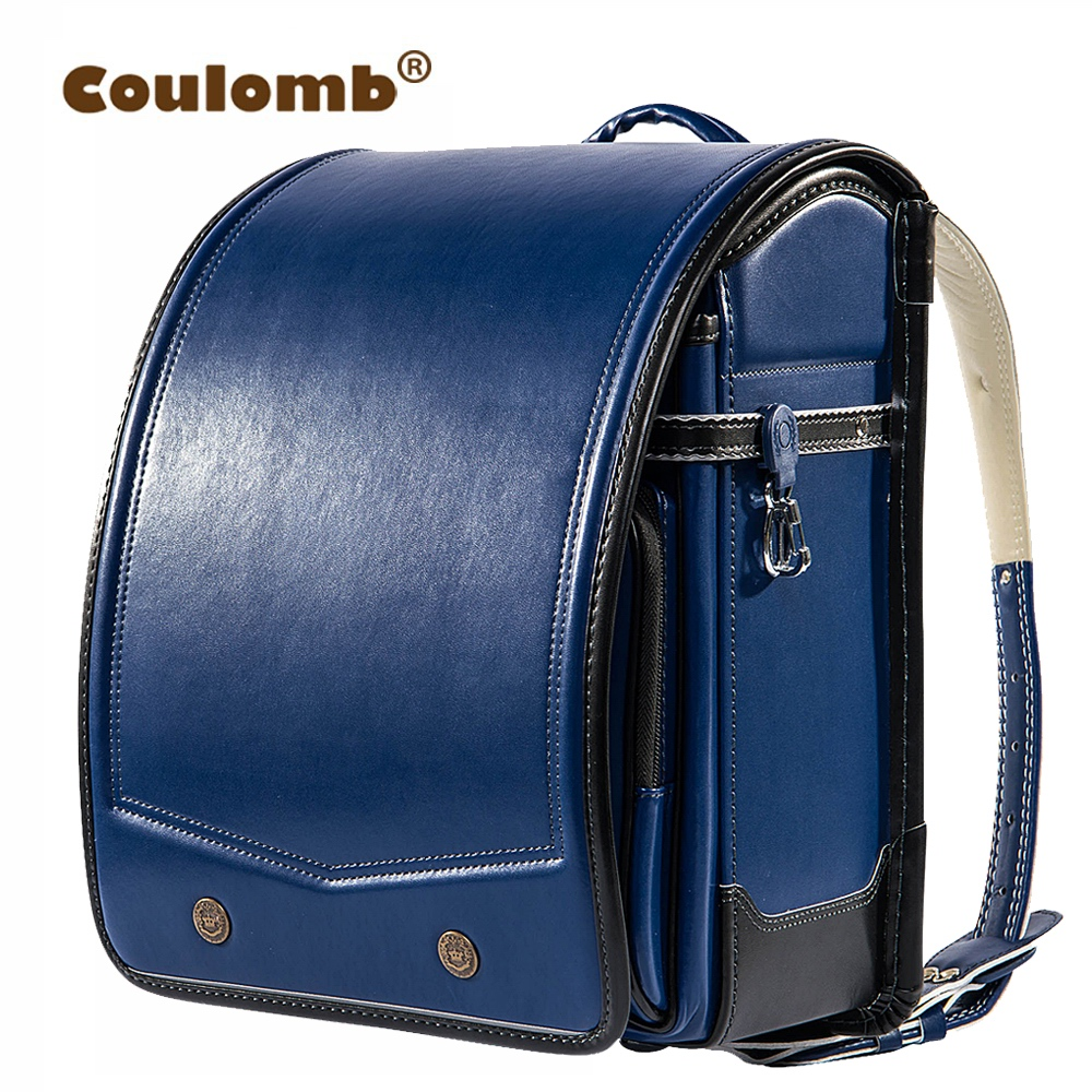 coulomb randoseru kid pu solid high quality brand children 39 s bag backpack for the boy children. Black Bedroom Furniture Sets. Home Design Ideas