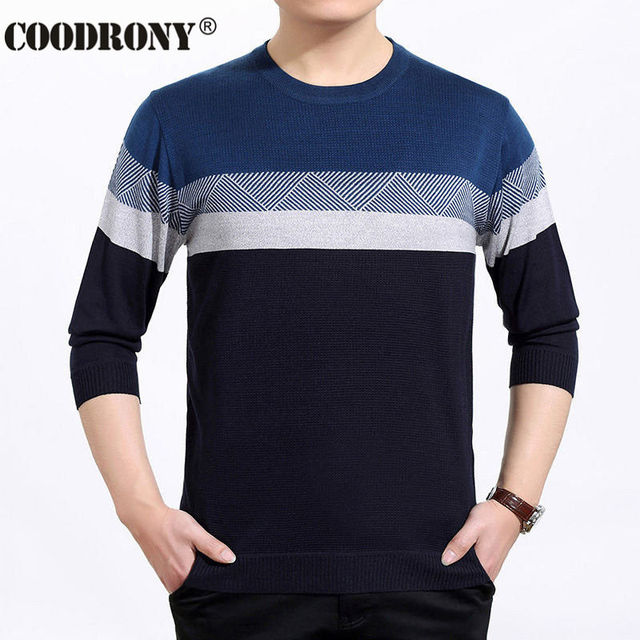 3c46991c8eb Wool Sweater Men Dress Striped Pattern Shirt O Neck Pullover Men Brand  Sweaters OEM Cashmere Pull Homme Plus Size S XXXXL 6634-in Pullovers from  Men's ...
