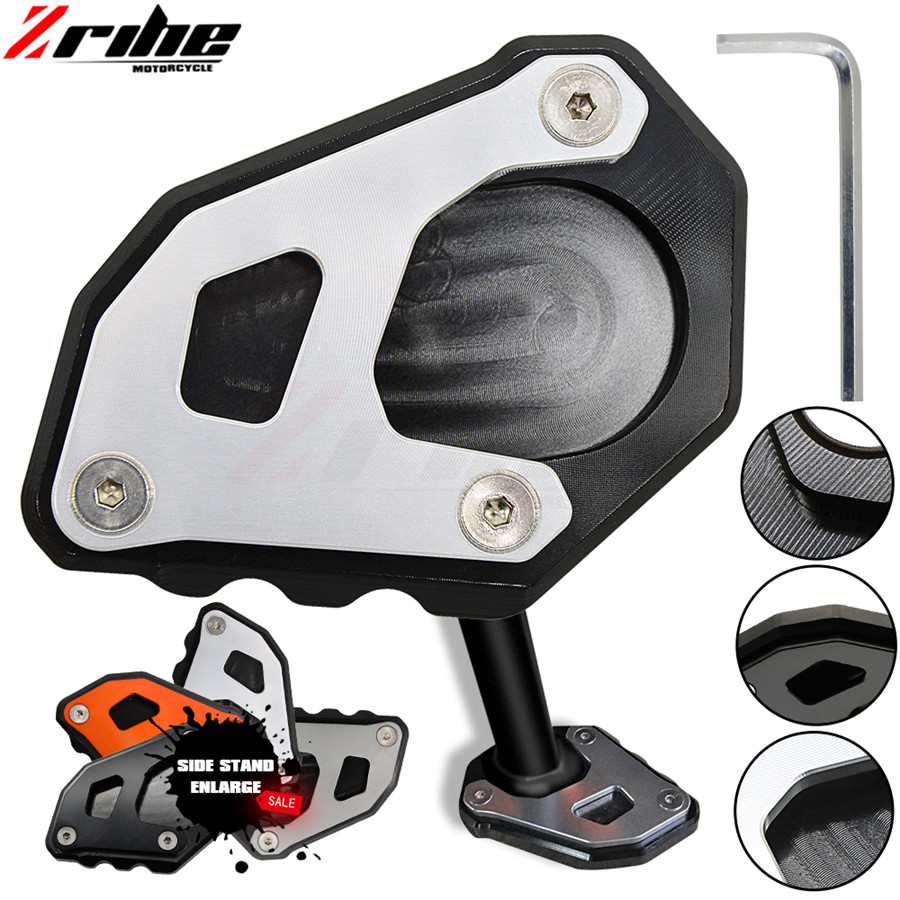 Motorcycle CNC Aluminum For KTM 950 Super Enduro KTM 990 950 SM Side Stand Enlarge Pads Kickstand Side Stand Extension Plate one for bmw f800r 2009 2012 2013 2014 hp2 08 motorcycle cnc aluminum side stand enlarger cnc kickstand pate pad side stand enlarger