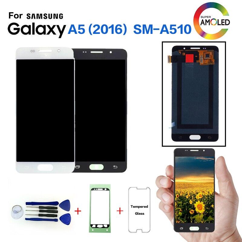AMOLED Per SAMSUNG Galaxy A5 2016 A510 SM-A510F Screen Display di ricambio per Samsung A510FD A5108 A5100 schermo lcd moduloAMOLED Per SAMSUNG Galaxy A5 2016 A510 SM-A510F Screen Display di ricambio per Samsung A510FD A5108 A5100 schermo lcd modulo