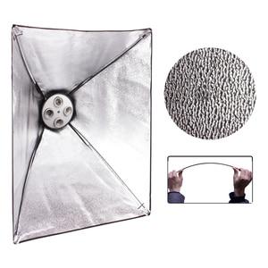 Image 2 - อุปกรณ์ถ่ายภาพสตูดิโอถ่ายภาพกล่องนุ่มชุดวิดีโอสี่ cappedโคมไฟแสง 50x70cm Softboxภาพกล่อง