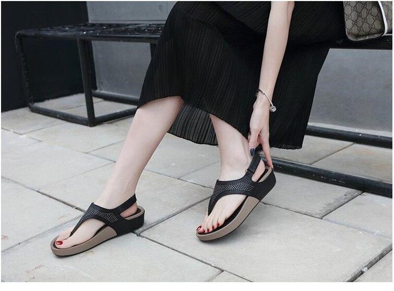 HTB1I7XXbyHrK1Rjy0Flq6AsaFXao TIMETANGNew Summer Wedge Rhinestone Women Sandals Open Toe Gladiator Sandals Women Casual Women Platform Sandals Beach flipflops