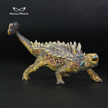 14x6x10cm Jurassic simulation static dinosaur world model Ankylosaurus solid pvc plastic toy Children toys gift