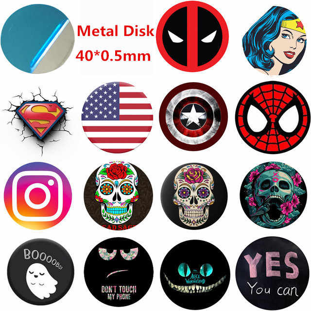 Custom Metal Plate disk iron 40x0.5mm for Magnet Mobile Phone Holder For Magnetic Car Phone Stand holders porta telefono auto