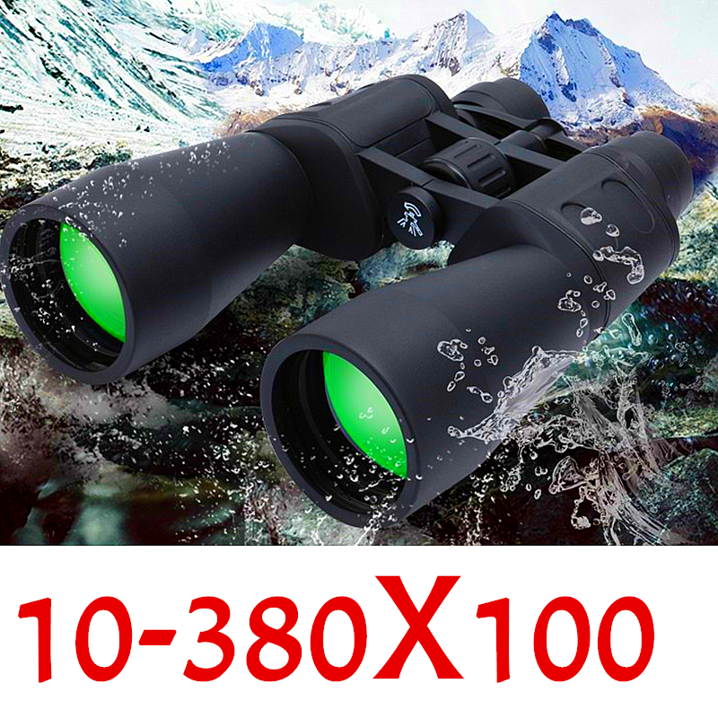 Professional 10-380*100 Telescope Range Zoom Travel HD Powerful Binoculars Camp Hiking Ultra Clear Light Night Vision Telescope