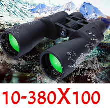 Professionell 10-380X100 Telescope Range Zoom Travel Kikare Camp Vandring Ultra Clear Light Night Vision Telescope