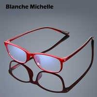 Tr90 quadro anti-azul óculos de leitura mulher homem retângulo ultraleve óculos + 1 + 1.5 + 2 + 2.5 + 3 + 3.5 + 4 oculos gafas 2020
