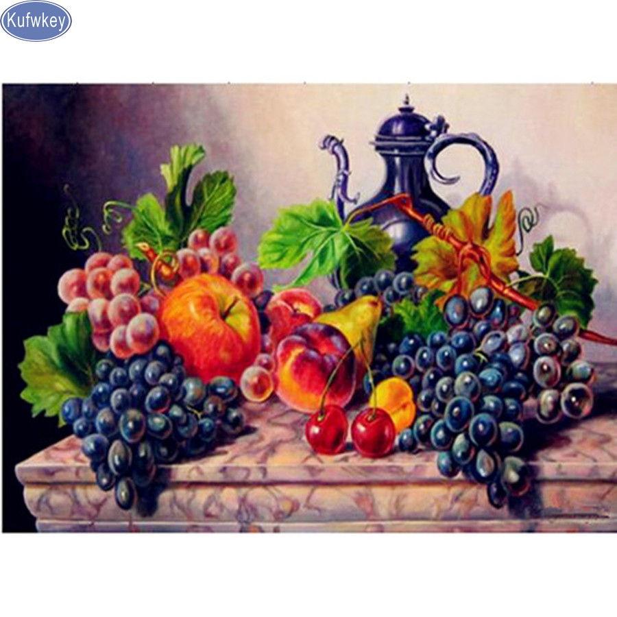 DIY Diamond embroidery Still life,fruit,full drill diamond painting Cross Stitch Rhinestone,3d mosaic diamond mazayka home decorDIY Diamond embroidery Still life,fruit,full drill diamond painting Cross Stitch Rhinestone,3d mosaic diamond mazayka home decor