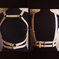 Punk Rock Gothic Handcrafted Leather Harness Body Bondage Underbust Waist Belt Caged Bustier Straps