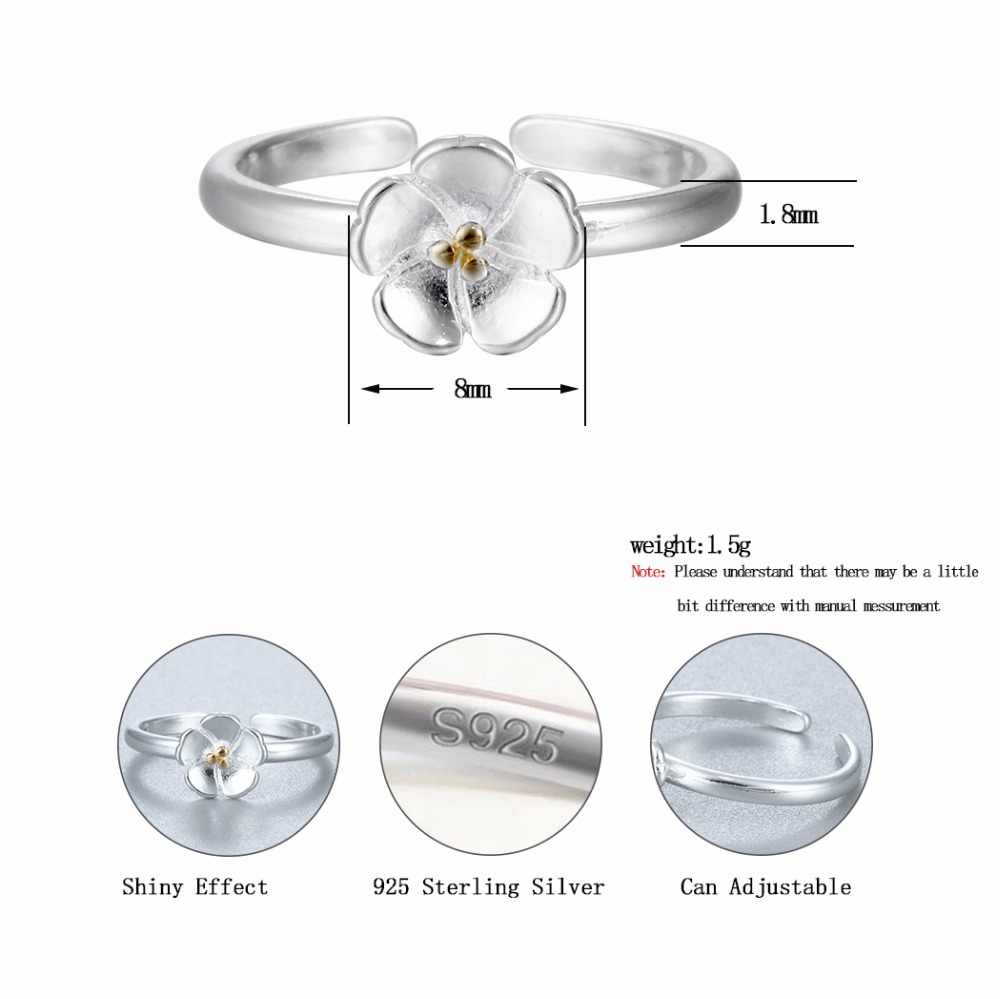 CHENGXUN Elegant Jewelry Beautiful Lotus Flower Ring Women Girls Men Christmas Party Gift  Rings