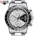 Reloj Hombre 2017 LIGE de Primeras Marcas de Lujo de Moda Del Deporte Del Cronógrafo Para Hombre Relojes de Cuarzo Militar Reloj Hombre Reloj Relogio masculino