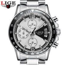 Reloj Hombre 2017 Top Marque De Luxe LIGE De Mode Chronographe Sport Hommes Montres Militaire Quartz Montre Horloge Homme Relogio Masculino