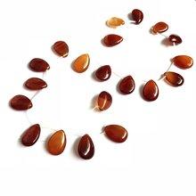 Оптовая продажа 1str натуральный красный сердолик бусины Красный