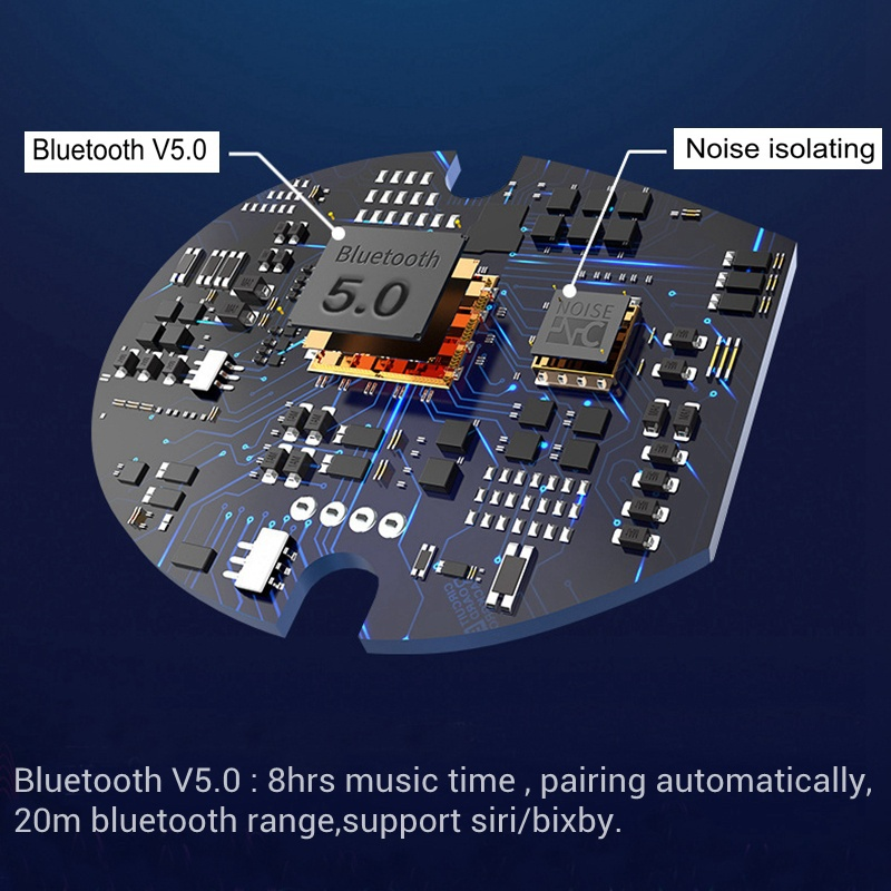 Bluetooth 5,0 беспроводные наушники шумоподавление Handfree Портативный Bluetooth 5,0 беспроводные наушники микрофон мобильный телефон TWS