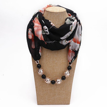 DANIELS Multi-style Decorative Jewelry Necklace Resin Beads Pendant Scarf Women Foulard Femme Accessories Hijab Free Shipping