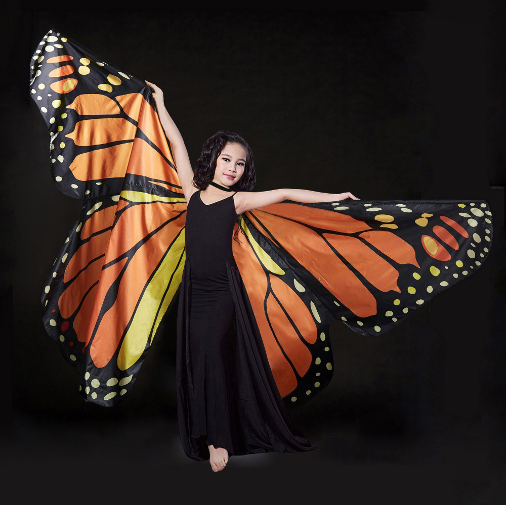 2018 Butterfly Kids Belly Dance Costume Children's Isis ...