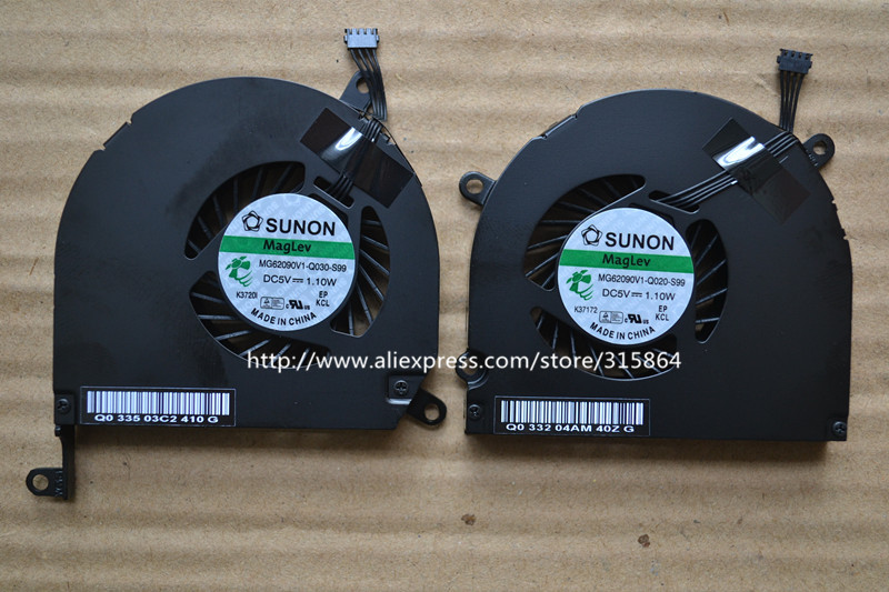 2pcs together left and right fan CPU Cooler Fan B470 A1286 MB985 For Apple MacBook Pro 15 MG62090V1-Q020-S99 2pcs left
