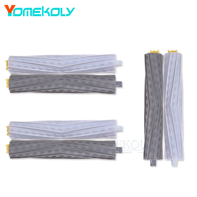 3 Sets Tangle-Free Debris Extractor Brush for iRobot Roomba 800 900 Series 870 880 980 Vacuum Cleaner Brush Parts 2 set tangle free debris extractor 4 hepa filter 6 side brush fit for irobot roomba 800 900 series 870 880 980 cleaner parts