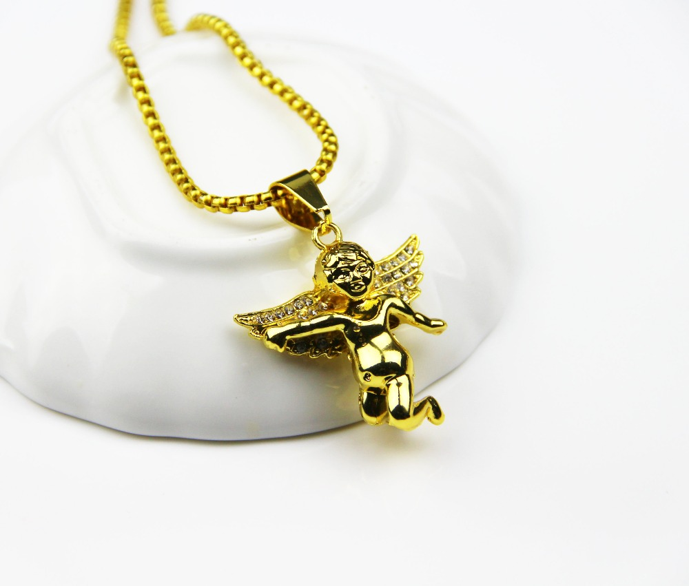 Fashion Jewelry Spread Your Wings And Charm Micro Angel Piece Necklace For Men And Women