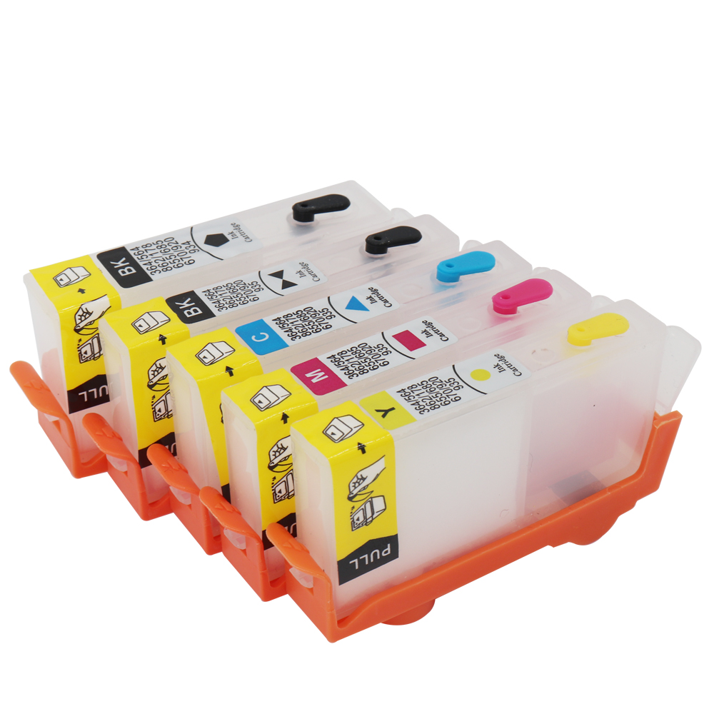 For hp564 Refillable Ink Cartridge for HP <font><b>564</b></font> <font><b>XL</b></font> For HP C309a 5510 6510 7510 B209 C310a C310b C310c C410a C410b With ARC Chip image
