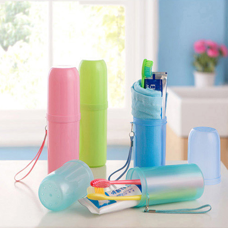Travel Accessories Cute Portable Toothbrush Holder Outdoor Travel Hiking Camping Toothrush Case Bathroom Accessories