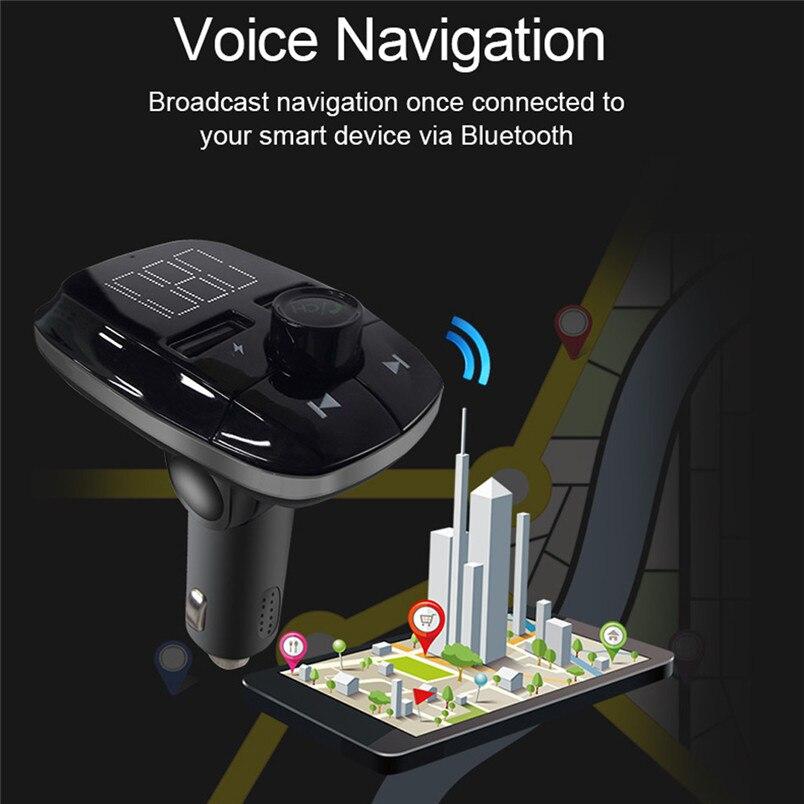 Wireless Bluetooth FM Transmitter MP3 Player Fast Charger Radio Adapter Car Kit Bluetooth V4.2 Car MP3 Player Daul USB 40NT15 (9)