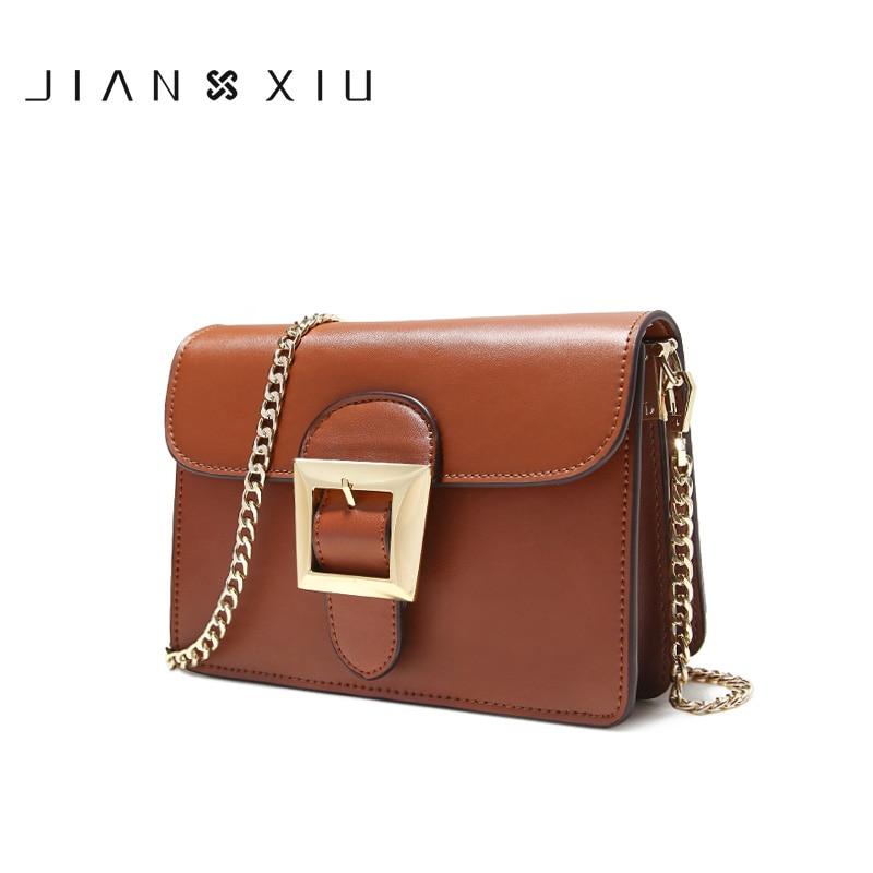 Jianxiu 여성 메신저 가방 분할 가죽 bolsos mujer bolsa sac tassen bolsas feminina 어깨 crossbody 2019 체인 작은 가방-에서숄더 백부터 수화물 & 가방 의  그룹 1