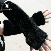 30cm 40cm Women's spring and winter, leather gloves room,natural mink long gloves,2017 latest fashion ,warm gloves,good quality