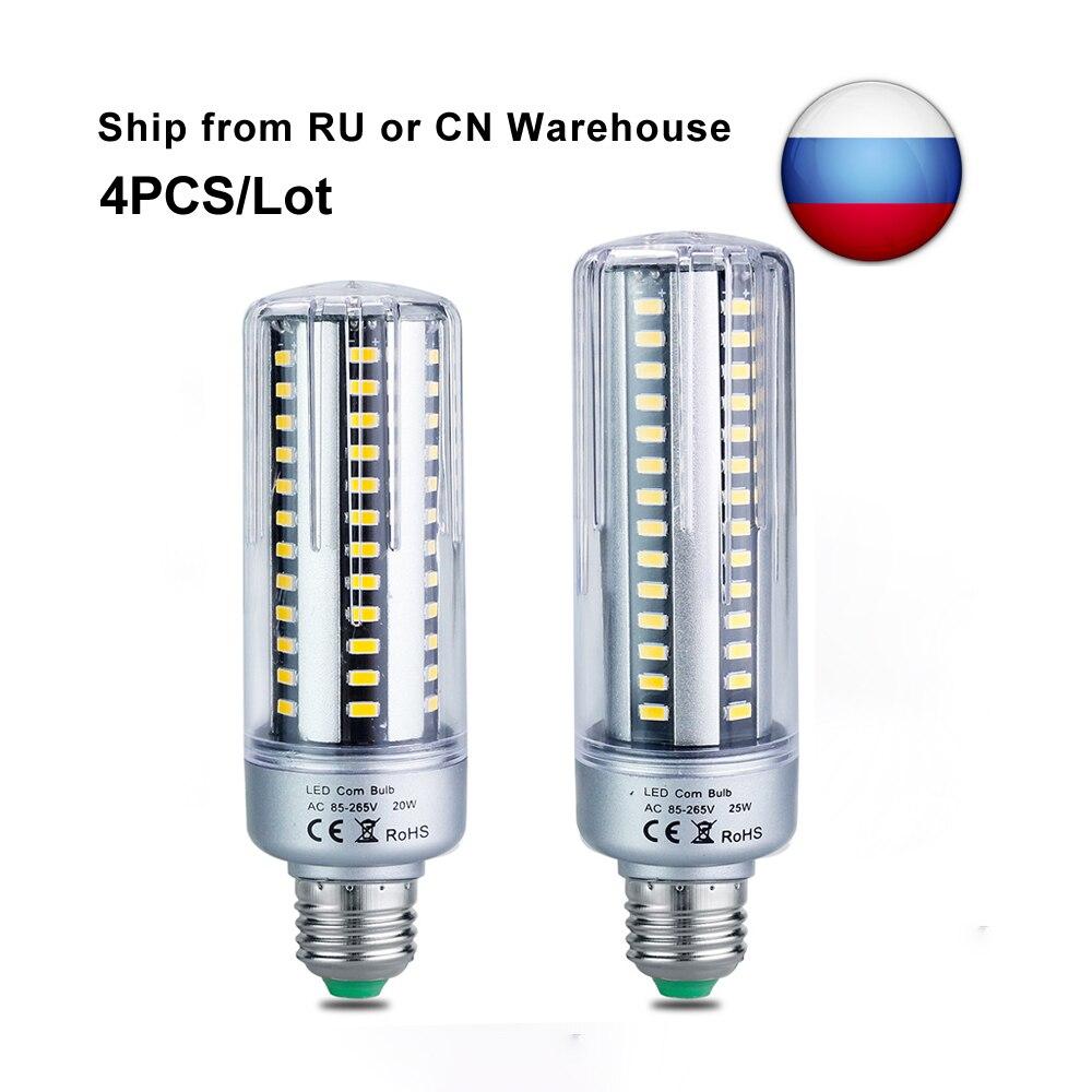 Led Bulbs & Tubes Useful Ac220v E27 Led Lamp Bulb 20w 25w Smd5736 Corn Light Aluminium No Flicker Eyesight Protection Desk Reading Lights 4pieces/lot We Have Won Praise From Customers Lights & Lighting