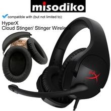 Misodiko 교체 용 이어 패드 쿠션 및 헤드 밴드 HyperX Cloud Stinger/ Stinger 무선 게임용 헤드셋, 수리 용 이어 패드