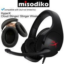 Misodiko coussinets doreille de remplacement coussins et bandeau pour HyperX Cloud Stinger/ Stinger casque de jeu sans fil, réparation oreillettes