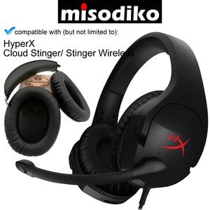 Image 1 - Misodiko 交換耳パッドクッションとヘッドバンドのための hyperx クラウドスティンガー/スティンガーワイヤレスゲーミングヘッドセット、修理イヤーパッド