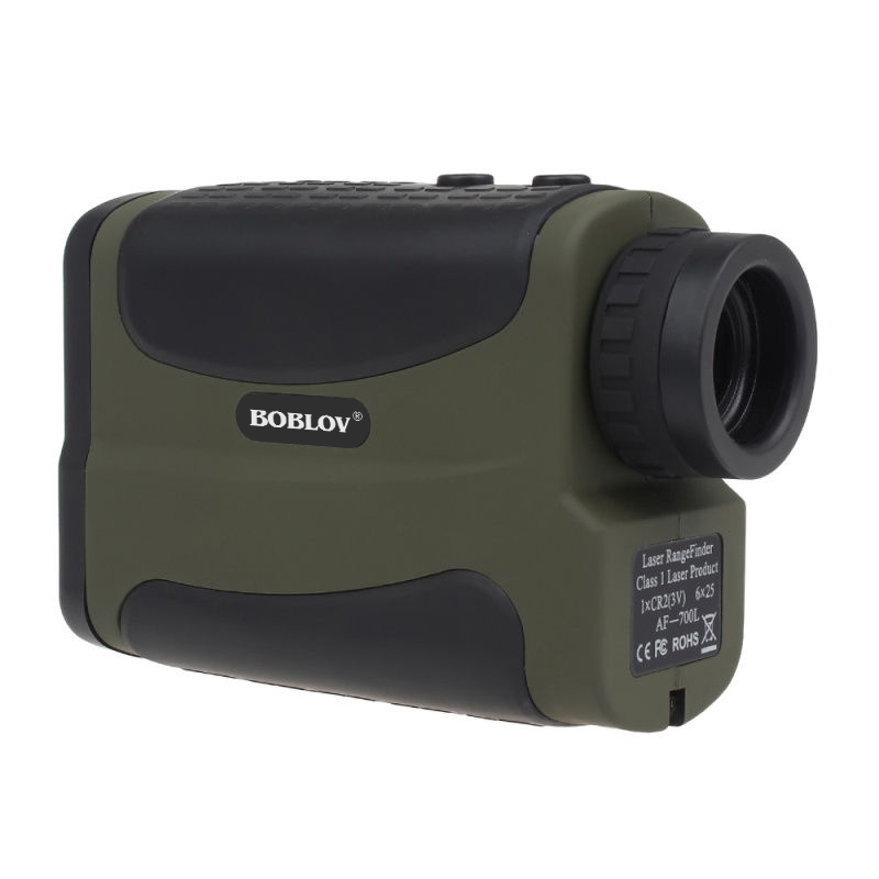 BOBLOV 600M Green Handheld 6x Golf Laser Range Finder Speed Measure Scope Golf Scope For Hunting+Free Battery Kits Free shipping maifeng 10x 25mm handheld hunting laser range finder black army green 1 x cr2