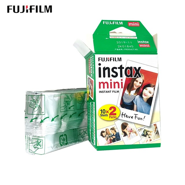 original Fujifilm 10 – 400 sheets instax mini 9 8 films white Edge films for instant mini 8 7s 25 50s 9 90 Camera photo Paper