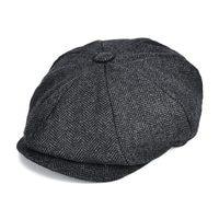 VOBOOM Wool Blend Tweed Newsboy Cap Mens Flat Caps Women 8 Panel Autumn Winter Cabbie Driver Hat 131