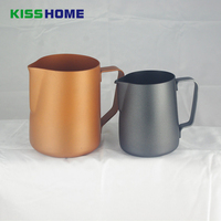 350ml Teflon Coating Stainless Steel Milk Frothing Pitcher for Espresso Maker Hot Milk Frother and Cappuccino Maker