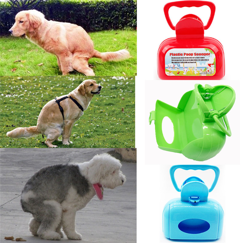 Hpybest Pet Pooper Scooper Poop Bags Clean Pick Up Dog Puppy Cat Waste Picker Outdoor Cleaning Poop Scoop Scooper Cleaner